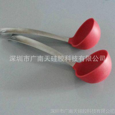 混批厨具 硅胶烹饪勺 硅胶汤勺 创意热销硅胶勺子