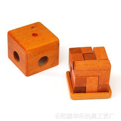 木制玩具益智玩具孔明锁鲁班锁方锁盒装立方体