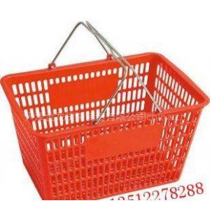 供应天津塑料购物篮 超市提篮