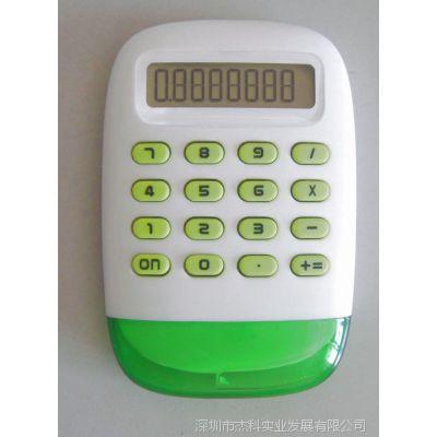 批发计算器8位数水能礼品计算器透明水晶壳