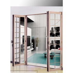 供应室内铝合金玻璃折叠门