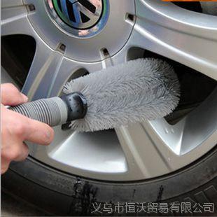 单头轮毂刷 150g 汽车轮毂专用清洁刷 防滑防冻软柄 洗车工具