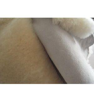 供应供应羊皮毛一体鞋里皮,羊剪绒裘革一体批发