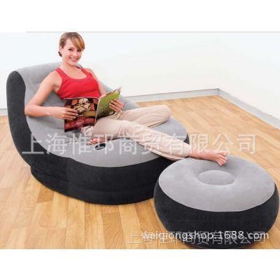 休闲单人沙发 沙发脚蹬套装 情侣沙发 懒人充气沙发 成人