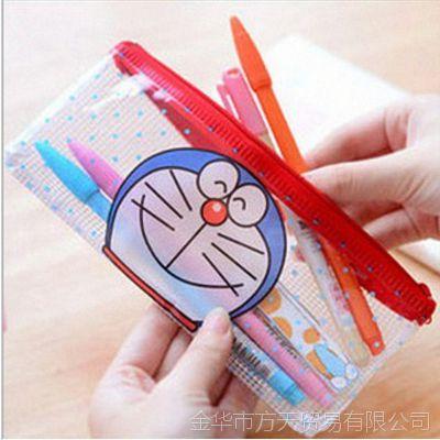 韩国文具 小黄鸭网格袋(B6)/铅笔袋/文具袋/学习用品2634