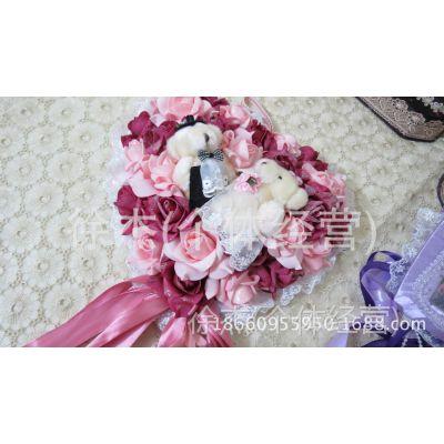 新款韩式可爱小熊手工蕾丝干花加香装饰花柄婚房搬迁婚庆新家适用