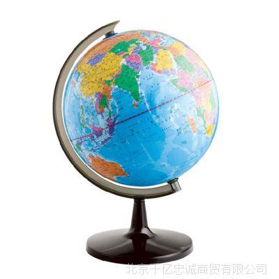 得力3032地球仪14.2cm2013高清立体地理教学办公室摆件工艺品