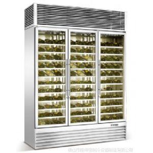 供应镀色不锈钢红酒柜-黑钛金红酒柜订做-茶叶冷藏柜-恒温葡萄酒柜