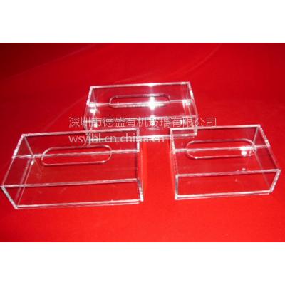 供应定做亚克力餐巾盒 有机玻璃家居用品 pmma纸巾盒定做