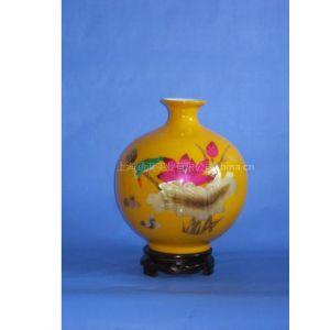 供应麦草画陶瓷工艺瓶/陶瓷花瓶/麦杆画陶瓷花瓶