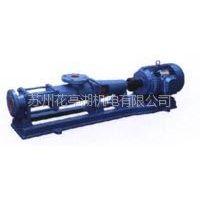供应带底座用于抽送有黏度液体优质高效轴不锈钢G系列单螺杆泵|苏州螺杆泵