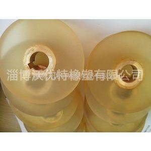 供应淄博沃优特专业提供聚胺脂包胶轮加工 质量保证不脱落PU聚氨酯胶轮厂
