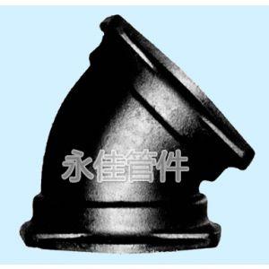 供应B型铸铁45度弯头