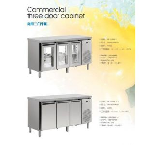 供应厂家直销冷冻冷藏平柜,商用三门平柜系列。