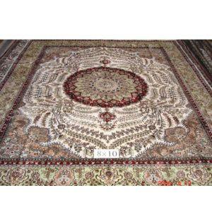 供应香港手工编织地毯:材料:真丝