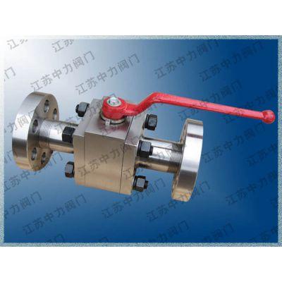 供应Q41N不锈钢高压锻钢球阀,三锻式,高压天然气法兰球阀