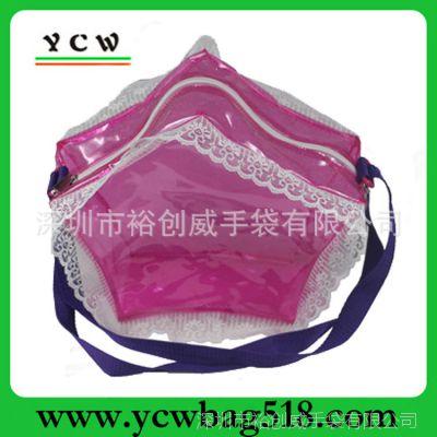 手袋工厂 生产五角星PVC包  蕾丝边 时尚休闲女包