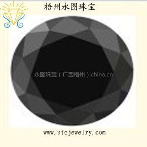 供应优质黑色锆石 圆形RS 厂家直销人造宝石裸石