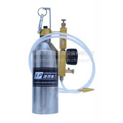 广东三元系统清洗吊瓶 三元催化器 SP吸入式清洗养护设备不锈钢瓶 汽保工具