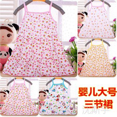 卡*特跟单 儿童吊带裙 婴幼儿背心裙花边裙  夏季薄款三节裙 大号