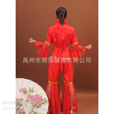 供应2014款秧歌服装演出服中国风服饰民族服装古典表演服腰鼓舞女