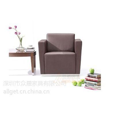 供应深圳众晟家具ZS-SF-102皮制现代办公沙发