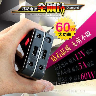 厂家直销掌上型DC 5V 12V UPS应急电源 USB 5V/1A 5V/2.1A 不断电充电宝