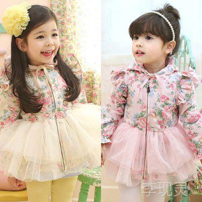 免费代理 女童风衣新款 宝宝外套 纯棉女生韩版 一件代发 可混批
