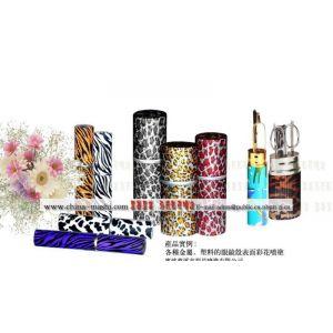 各种化妆品壳表面彩花喷涂效果图
