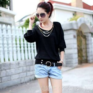 供应秋装新款韩版宽松 灯笼袖长袖女装蝙蝠袖 新品T恤 女士打底衫