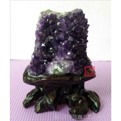 天然乌拉圭紫水晶洞块簇摆件家用摆件办公摆件商务礼品