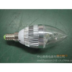 供应厂家直销恒流式3W LED铝壳尖泡