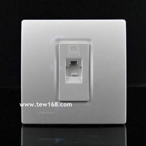 供应珠海西门子开关插座价格 灵动 点晶 灵动系列白色一位电脑插座5TG07121NC1