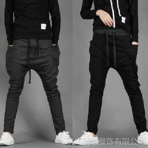 供应外贸特供  2014新款韩版 撞色腰 飞鼠裤 休闲裤 男 运动裤