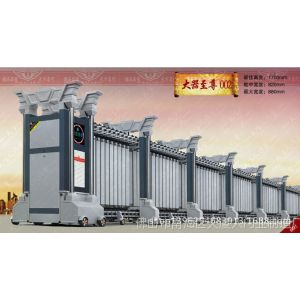 供应伸缩门厂家不锈钢铝合金无轨单轨伸缩门大器至尊002 道闸