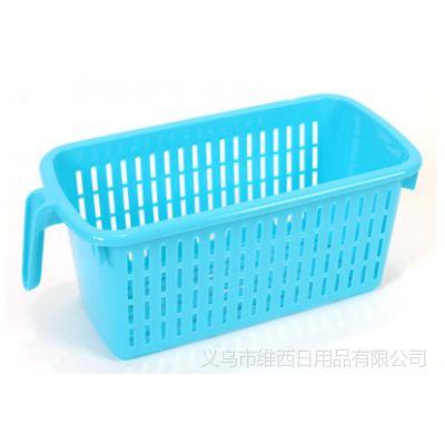 厨房用品 炫彩多功能长形有柄收纳筐  收纳篮 整理筐D150G