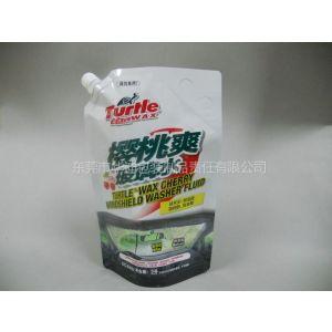 供应东莞厂商生产汽车玻璃水包装袋,铝箔材质自立吸嘴袋