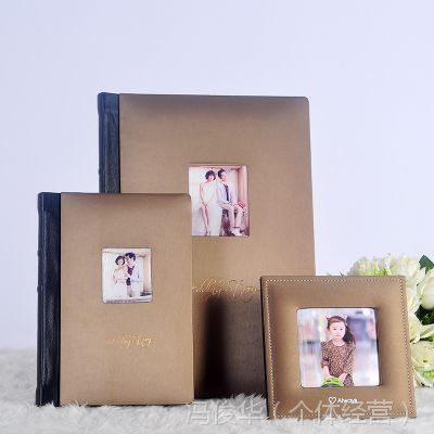 韩版时尚皮质三件套婚纱相册 高档大容量家居装饰相册影集 地中海