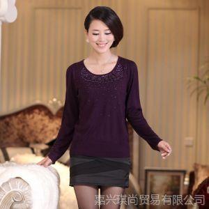 供应2013新款秋装中老年女装修身毛衣女中年妈妈装套头打底衫现货批发