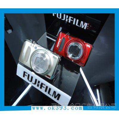 亚克力展示架 黑色亚克力相机架 有机玻璃制品 广告喷绘工厂