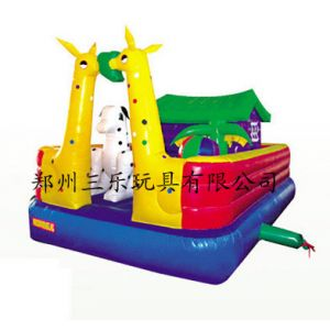 供应买儿童充气跳跳床到哪里,请到郑州三乐新款长颈鹿儿童蹦蹦床