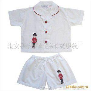 出口英国品牌男童睡衣(全棉色织格子布)
