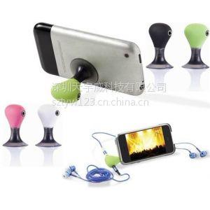 供应耳机音频线一分二 卡通耳机分线器 情侣耳机音频转接头吸盘支架 支持听歌、看电影、看视频……