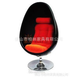 供应透明蛋椅 椭圆形旋转太空椅 落地压克力躺椅