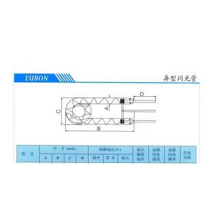 供应氙气闪光灯管螺旋型规格表 影楼闪光灯智能交通信号灯