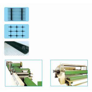 供应PE单向双向拉伸土工格栅生产线设备