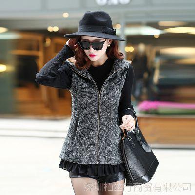 2014女装新款潮女式风衣外套春秋韩国连帽风衣长袖外套