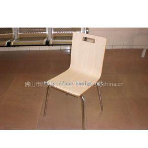 供应防火板弯曲木椅,耐磨面曲木餐椅广东家具工厂批发价