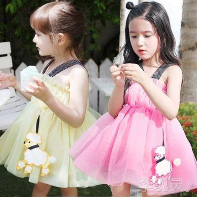2014夏装新款韩版外贸女孩公主裙子新手开店免费一件代发代理