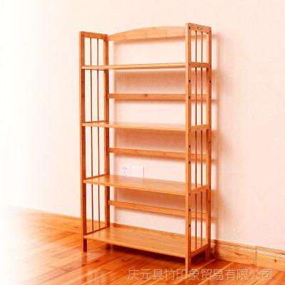 经销批发 创意书柜书架 家用书架 大容量创意书架竹子置物架图片